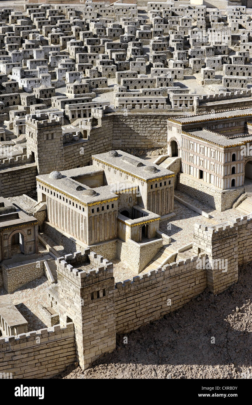 Second Temple Model at the Israel Museum, detail, Jerusalem, Israel, Middle East, Western Asia, Asia Stock Photo