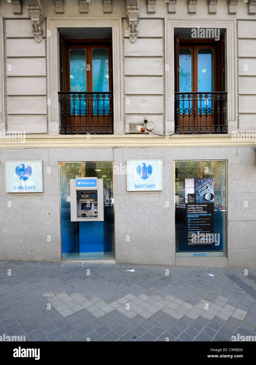 Branch of Barclays Bank, Madrid, Spain, Europe, PublicGround - Stock Image