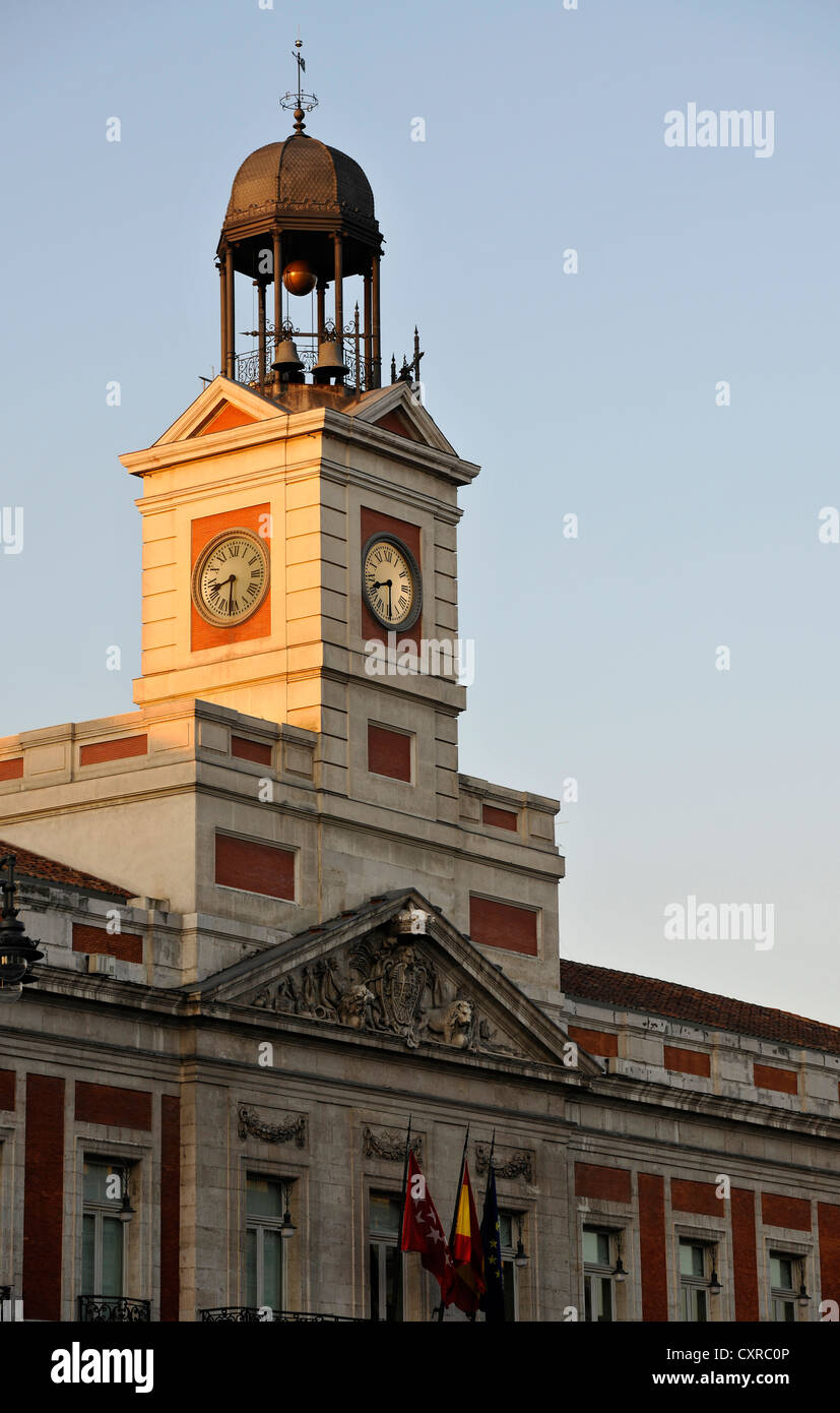 Presidencia de la Comunidad de Madrid building, Antigua Casa de Correos building, presidium of the Autonomous Region - Stock Image