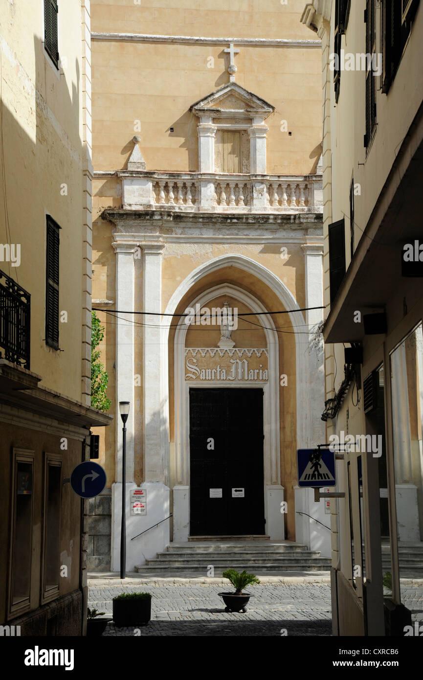 Church Iglesia De Santa Maria In Mao Mahon Minorca Menorca Stock Photo Alamy