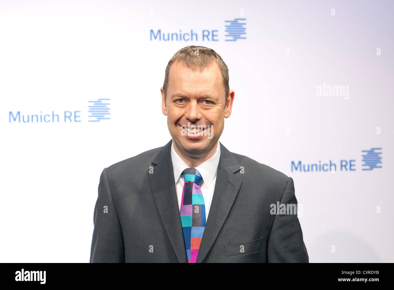 Torsten Oletzky, board member of the Munich Re insurance company and CEO of the Ergo Insurance Group, during the - Stock Image