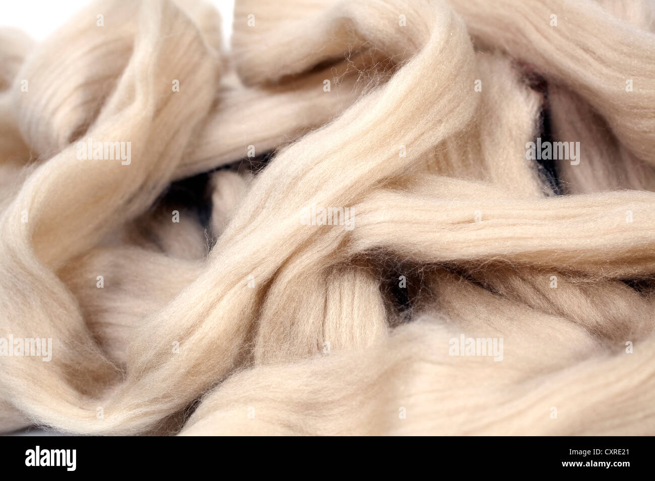 Viscose fibres for the production of clothing - Stock Image