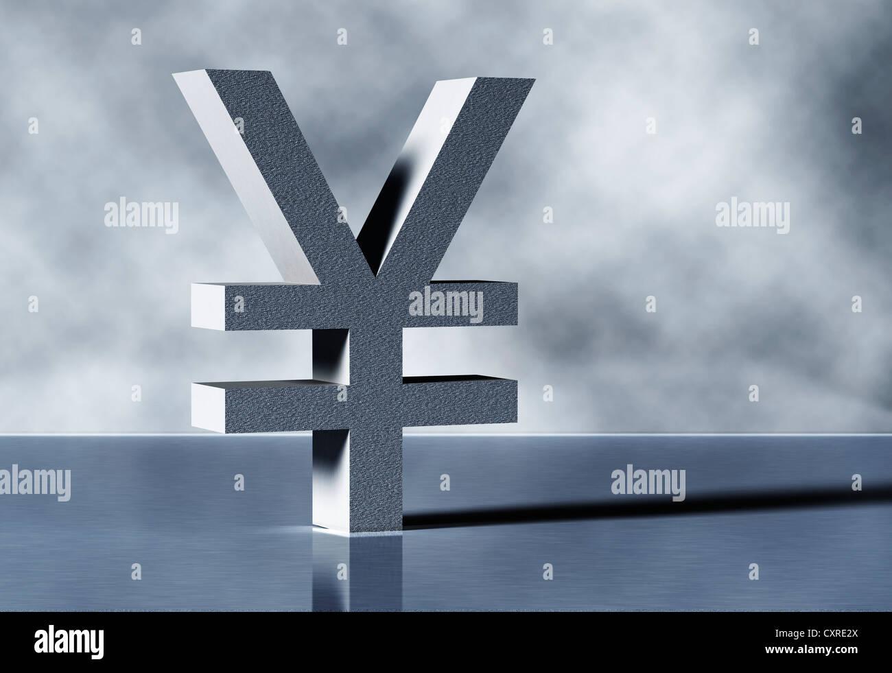 Yen symbol - Stock Image