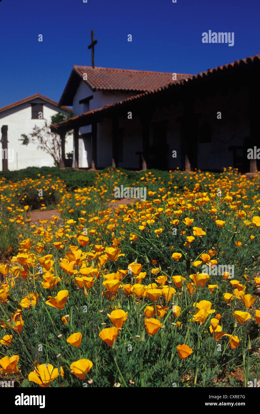 Mission San Francisco Solano northernmost of California Missions founded 1823 in Sonoma State Historical Park Sonoma - Stock Image