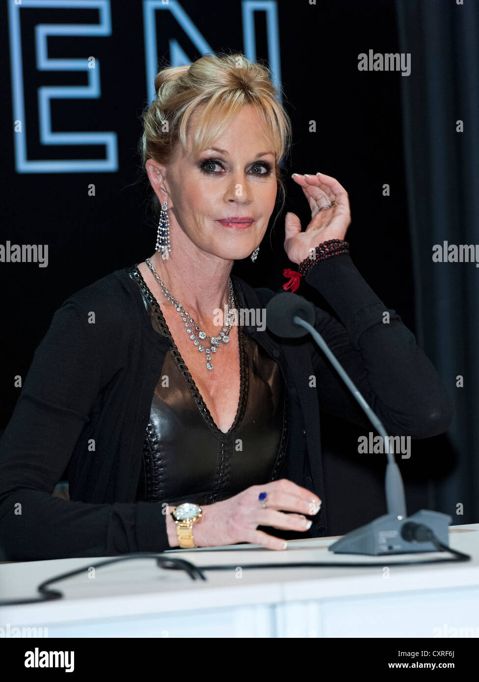 Actress Melanie Griffith at the Filmfest in Munich, Bavaria, Germany, Europe - Stock Image