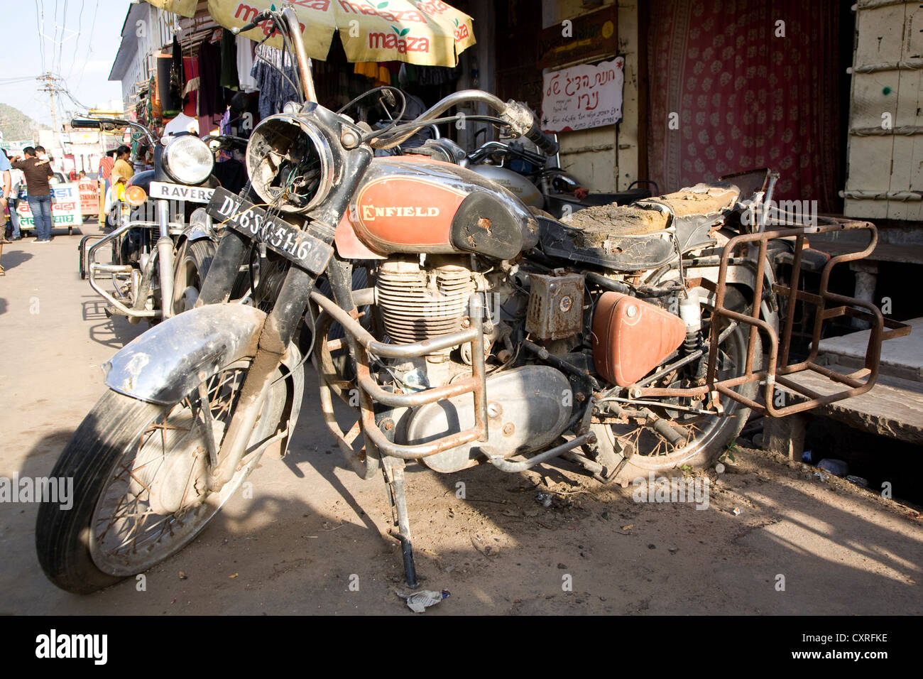 Royal Enfield Motorcycle In India Stock Photo 50918994 Alamy