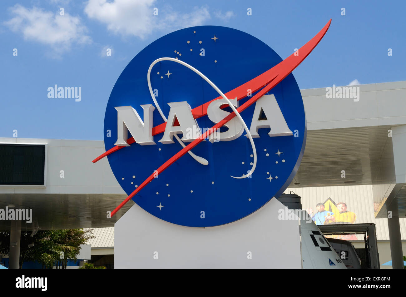NASA sign, John F. Kennedy Space Center, Cape Canaveral ...