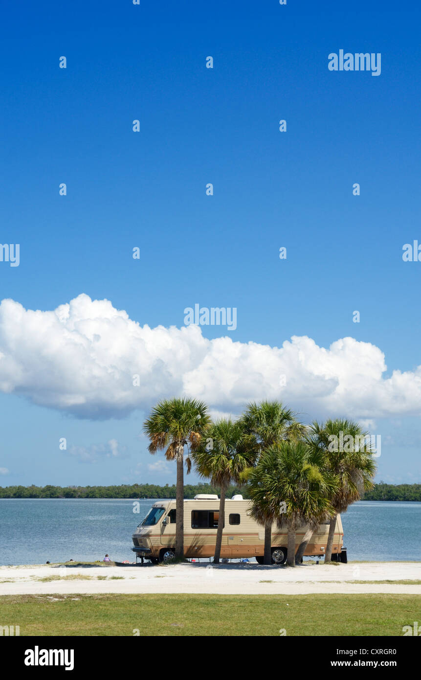 Campervan near Sanibel Island, Fort Myers, Florida, USA - Stock Image