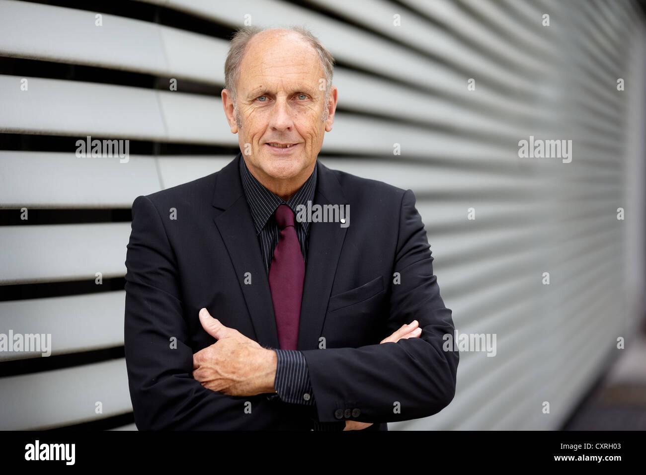 Hans-Joachim Stuck, racing driver, Frankfurt am Main, Hesse, Germany, Europe - Stock Image