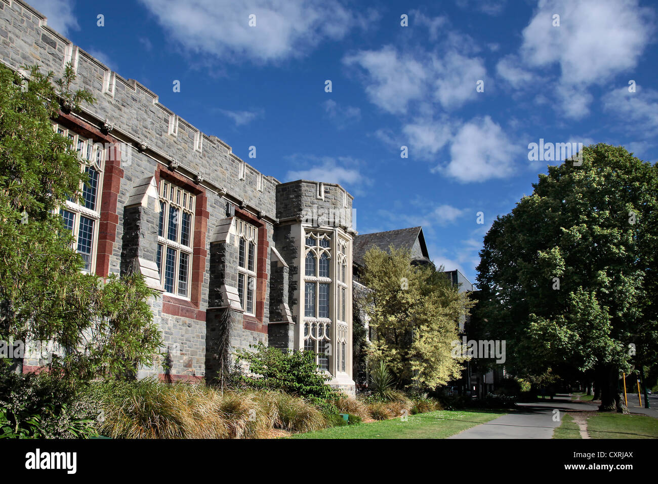 Christs College in Christchurch, Canterbury, South Island, New Zealand - Stock Image