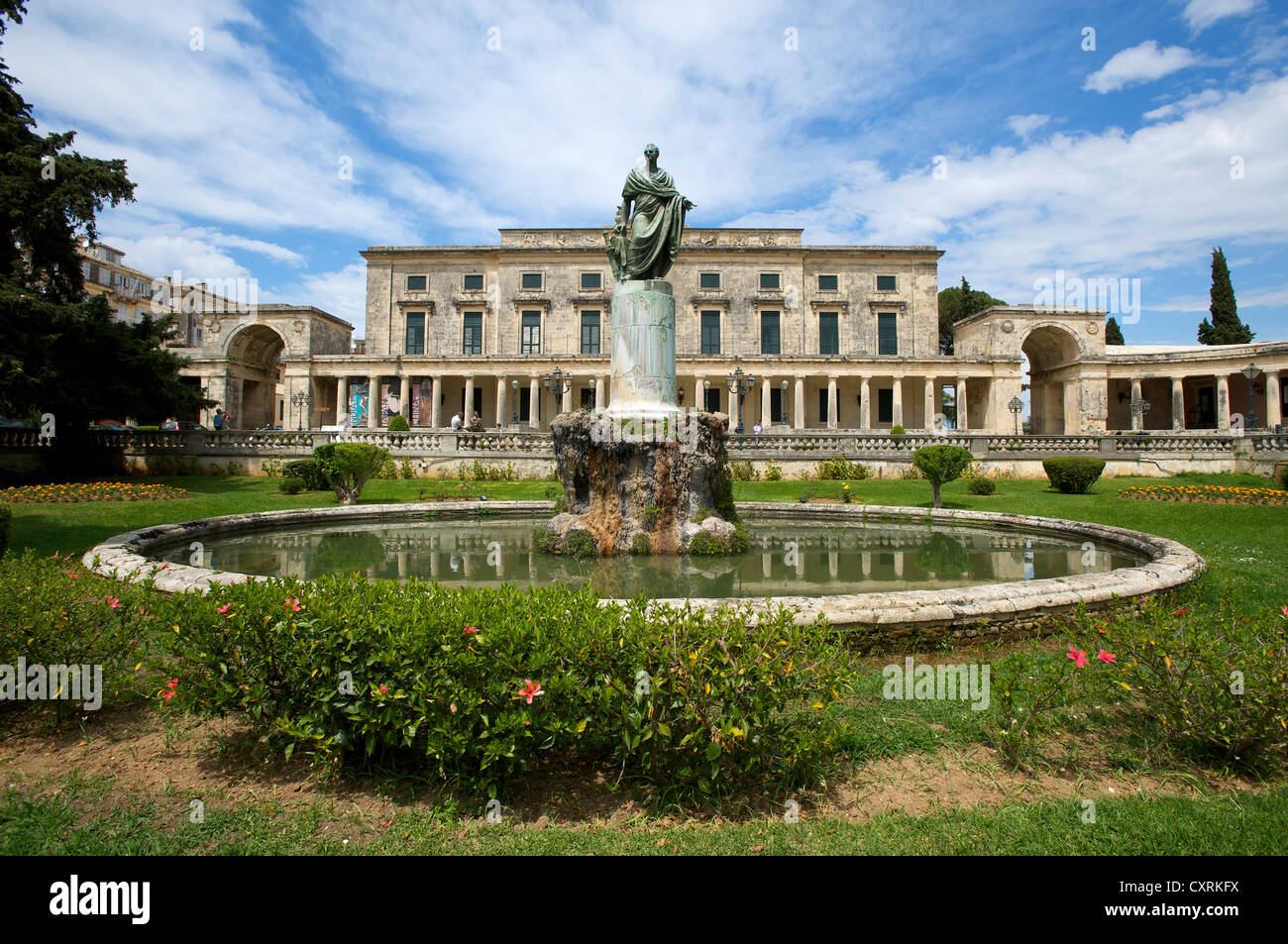 Old Palace at the Museum for Asian Art in Corfu Town, Kerkyra, Corfu, Ionian Islands, Greece, Europe - Stock Image