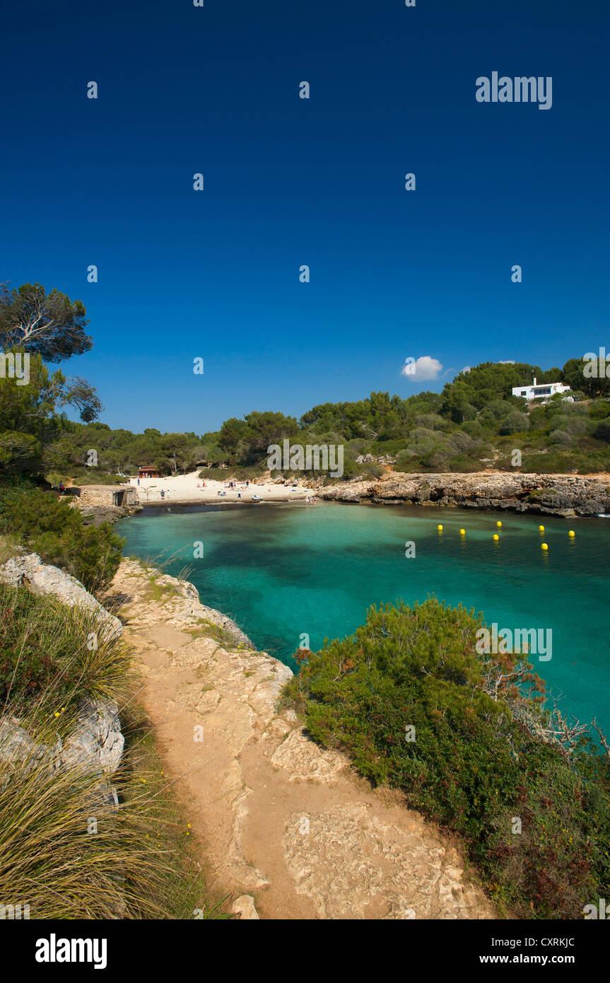 Bay, Cala Sa Nau, Mallorca, Majorca, Balearic Islands, Spain, Europe - Stock Image
