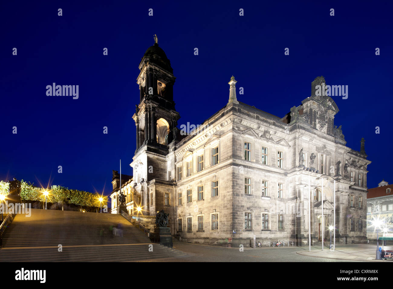 State Conservation Office, Higher Regional Court of Saxony, former Staendeshaus building of Saxony, Dresden, Saxony - Stock Image