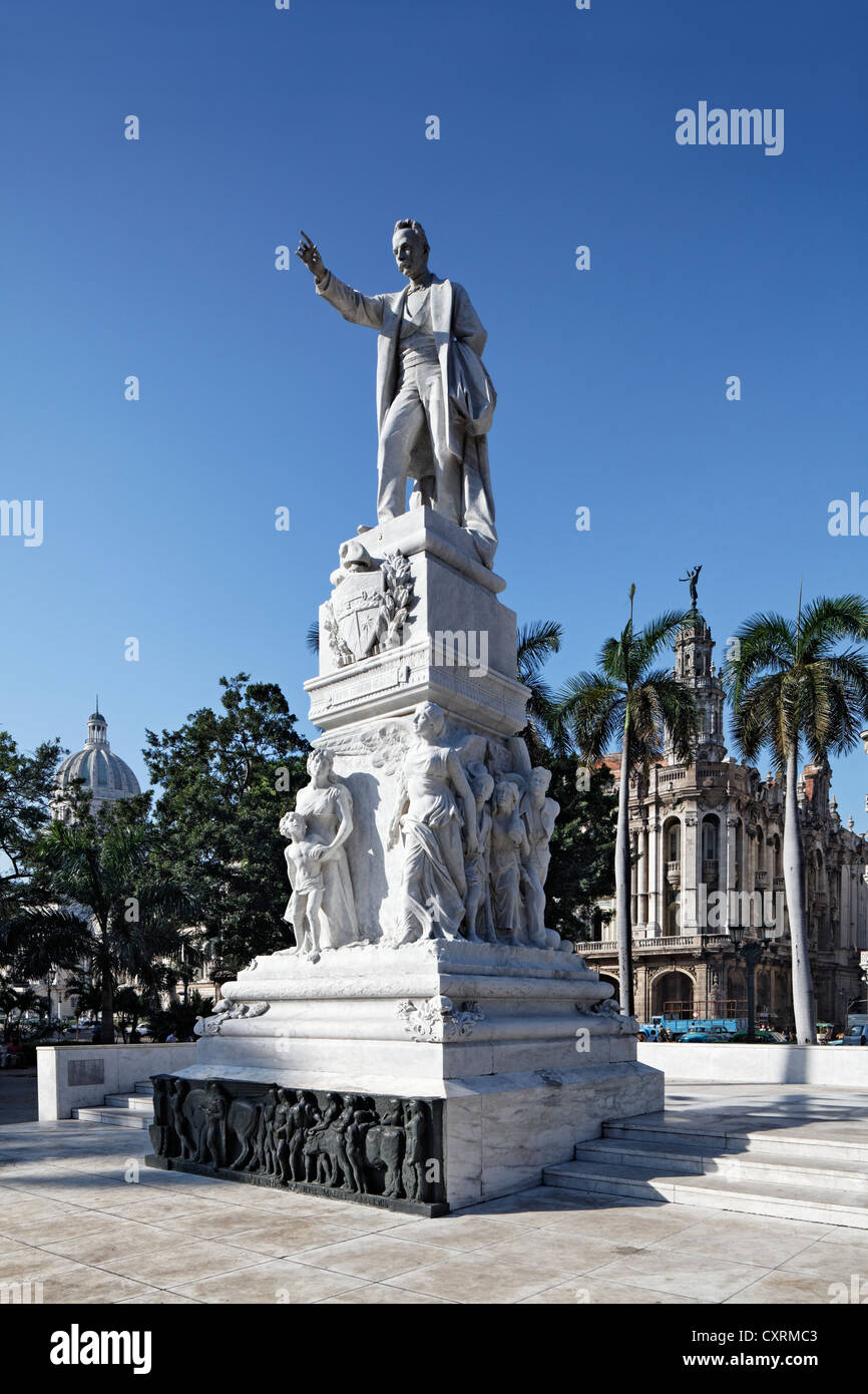 Memorial to national hero José Martí, writer, poet, Paseo de Martí, Villa San Cristobal de La Habana, - Stock Image