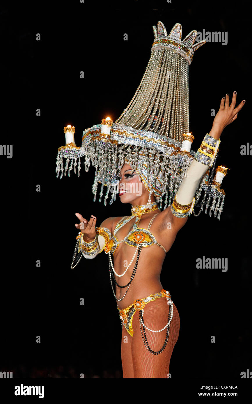 Dancer with an illuminated chandelier on her head tropicana open dancer with an illuminated chandelier on her head tropicana open air nightclub in the suburb of marianao la habana havana mozeypictures Choice Image