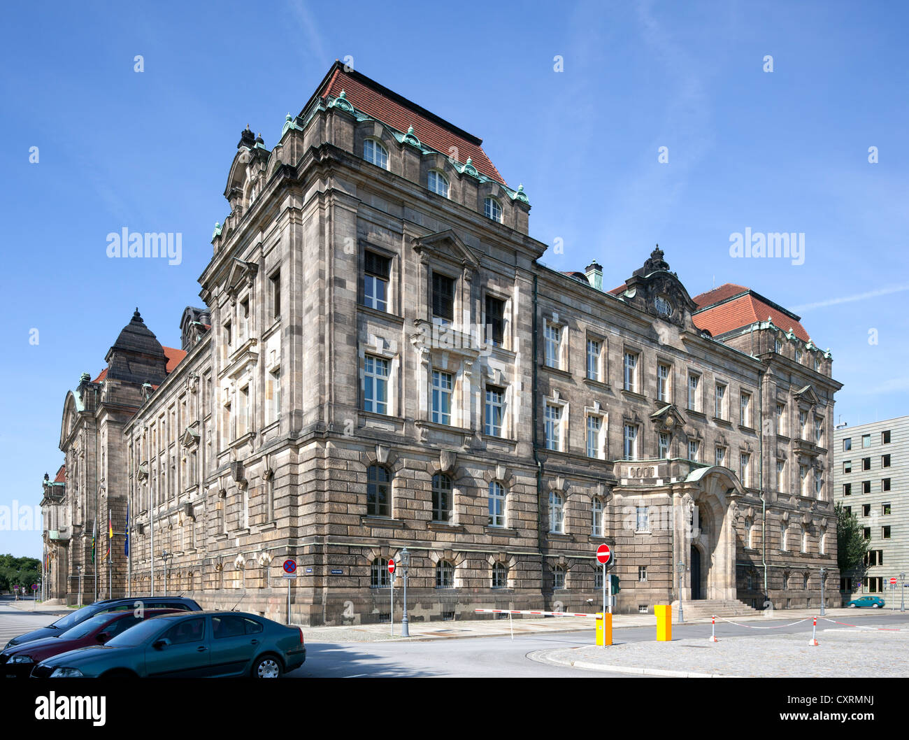 Saxon state chancellery, the former royal Saxon ministerial building, Neustadt, Dresden, Saxony, Germany, Europe, - Stock Image