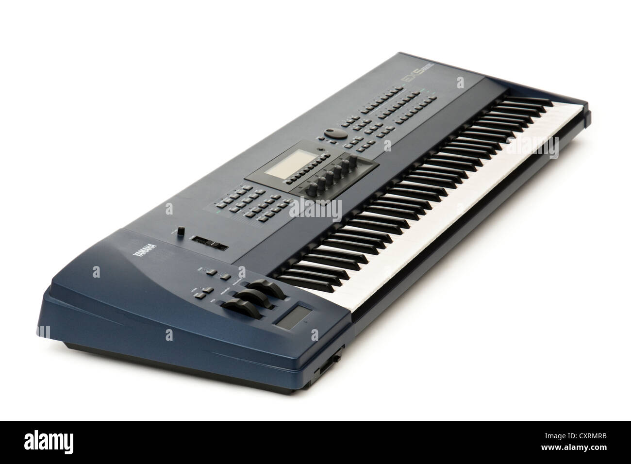 1998 vintage Yamaha EX5 professional 76-key synthesizer workstation - Stock Image