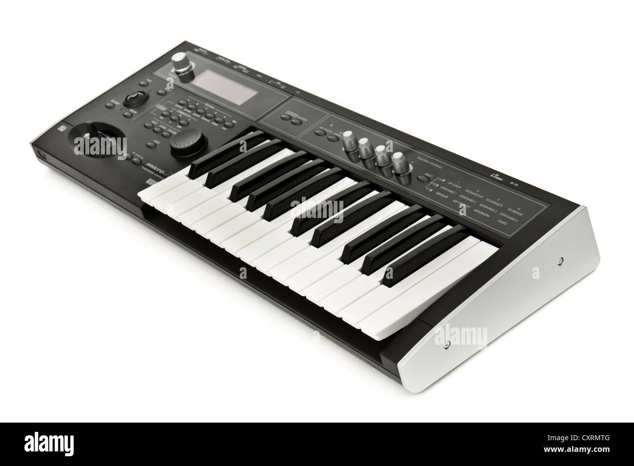2006 Korg Micro X portable 25-key music synthesizer / controller - Stock Image