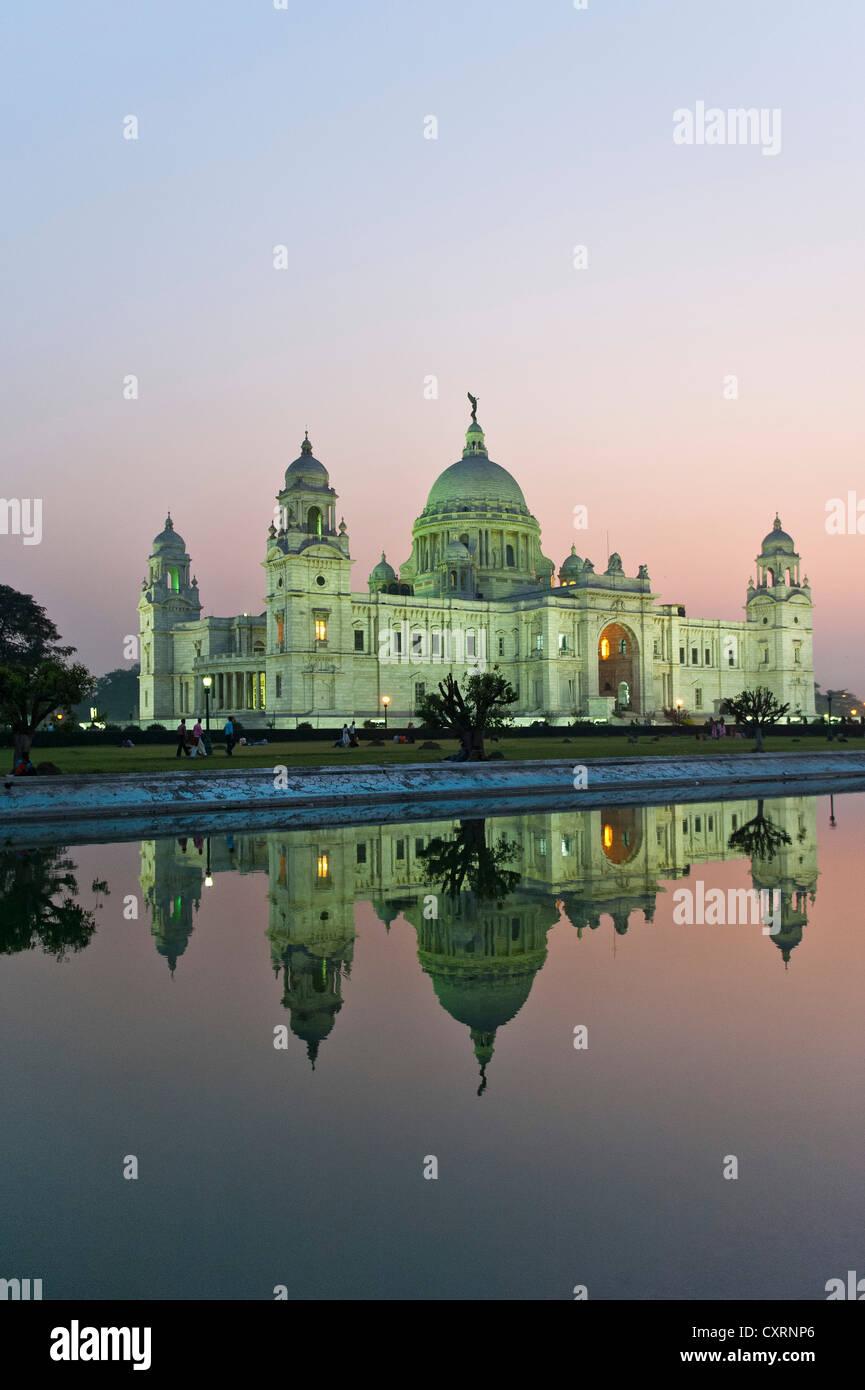 Queen Victoria Memorial Museum, Calcutta, Kolkata, West Bengal, India, Asia - Stock Image
