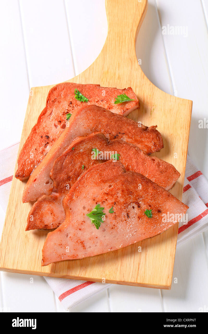 luncheon meat - Stock Image