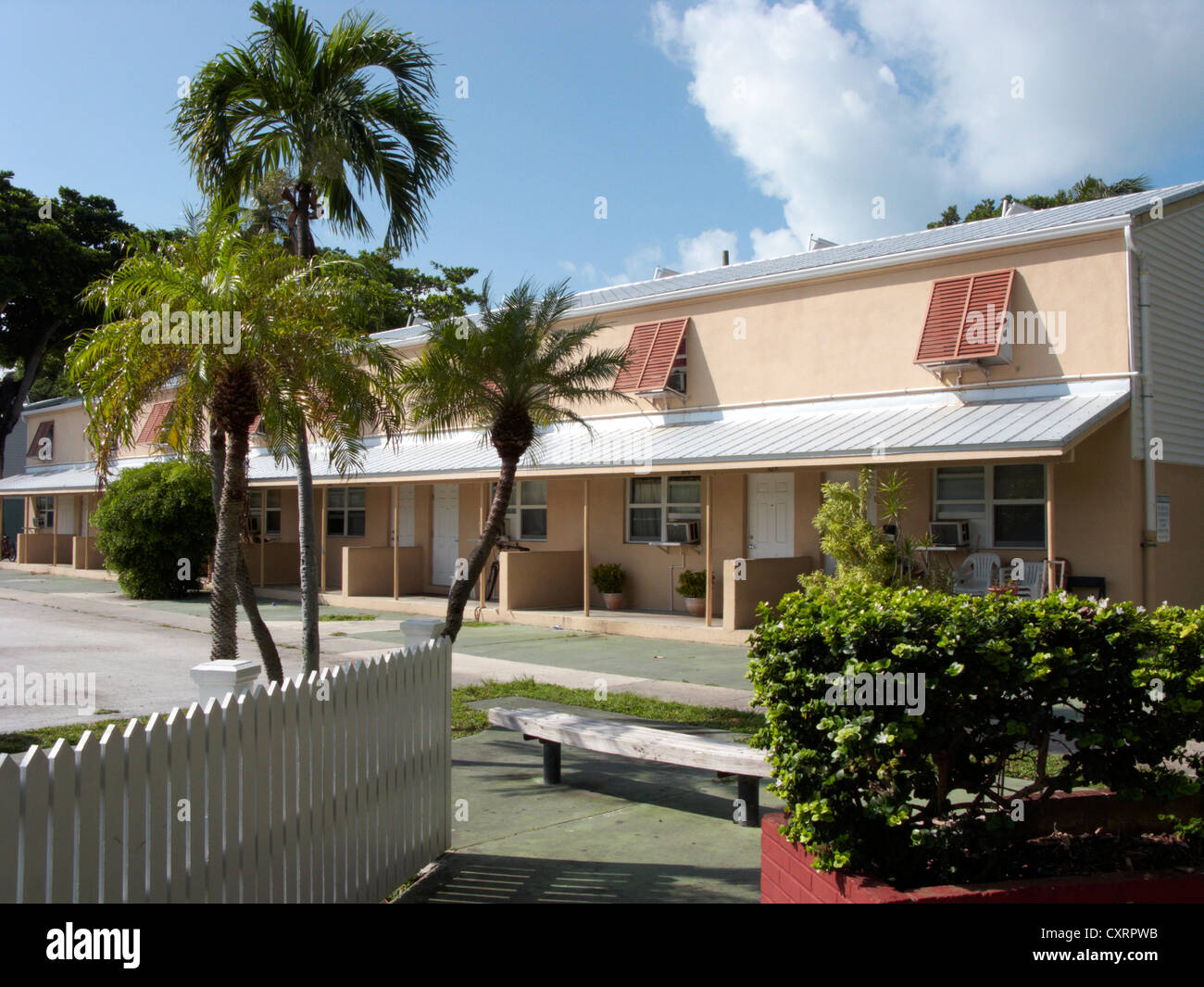 social housing key west florida keys usa - Stock Image