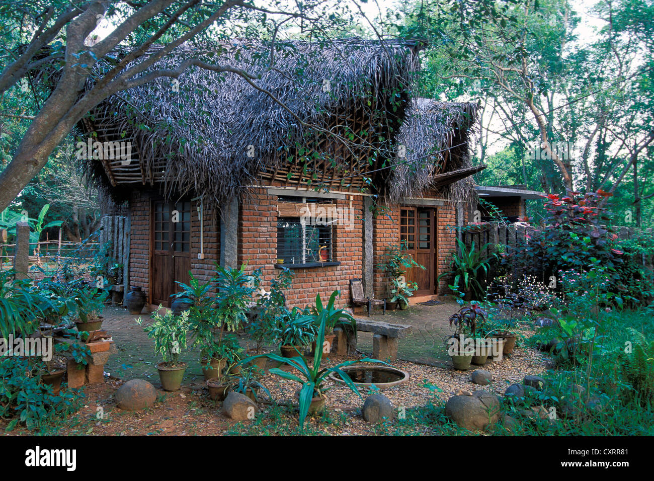 Alternative Architecture House And Garden Auroville Experimental Township Futuristic Near Pondicherry Or Puducherry