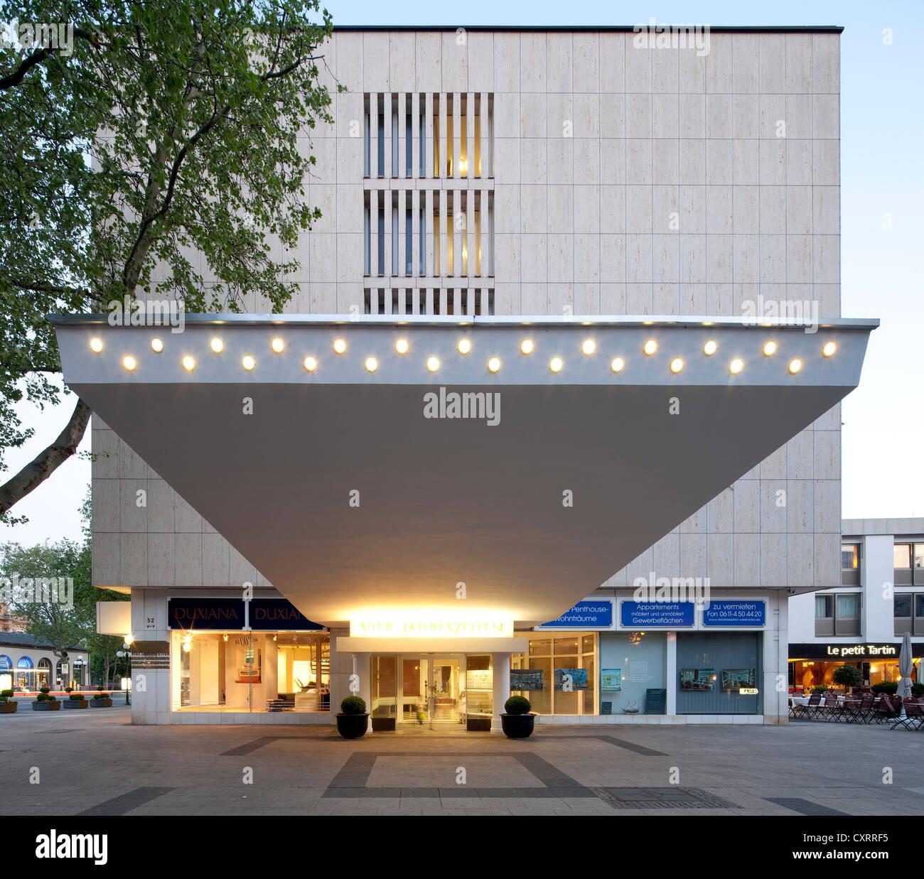 Hotel Four Seasons, Hotel Vier Jahreszeiten, Wiesbaden, Hesse, PublicGround - Stock Image