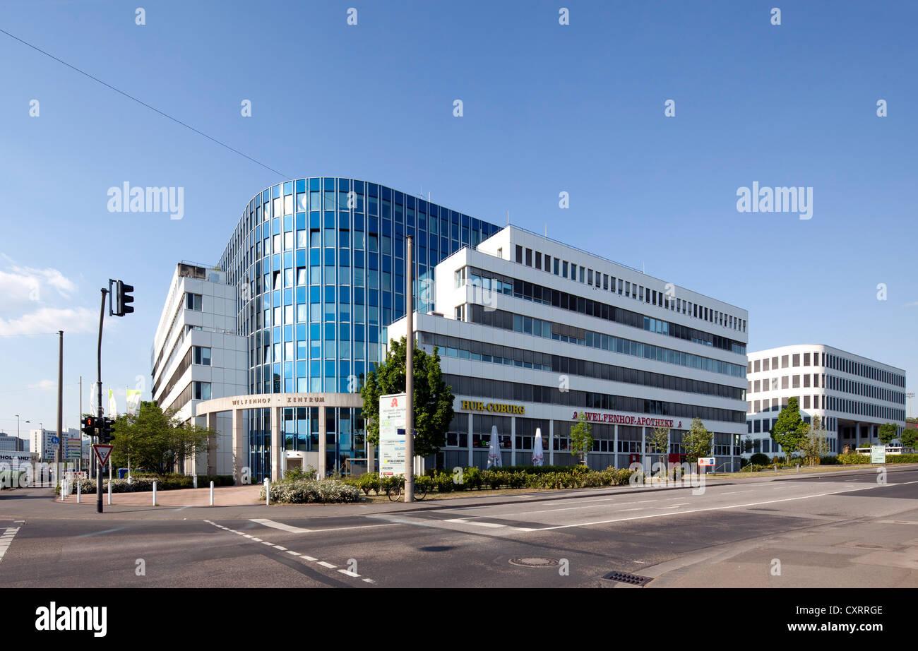 Welfenhof-Zentrum, Medical Point, Wiesbaden, Hesse, Germany, Europe, PublicGround - Stock Image
