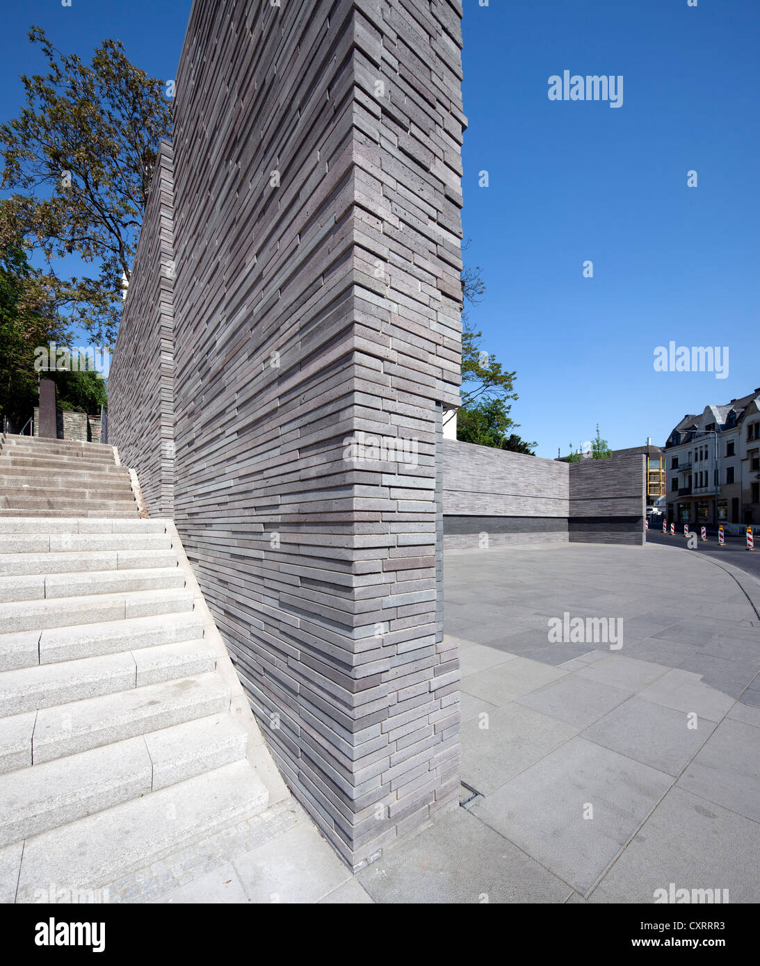 Memorial to the Murdered Jews of Wiesbaden, Old Synagogue, Wiesbaden, Hesse, Germany, Europe, PublicGround - Stock Image