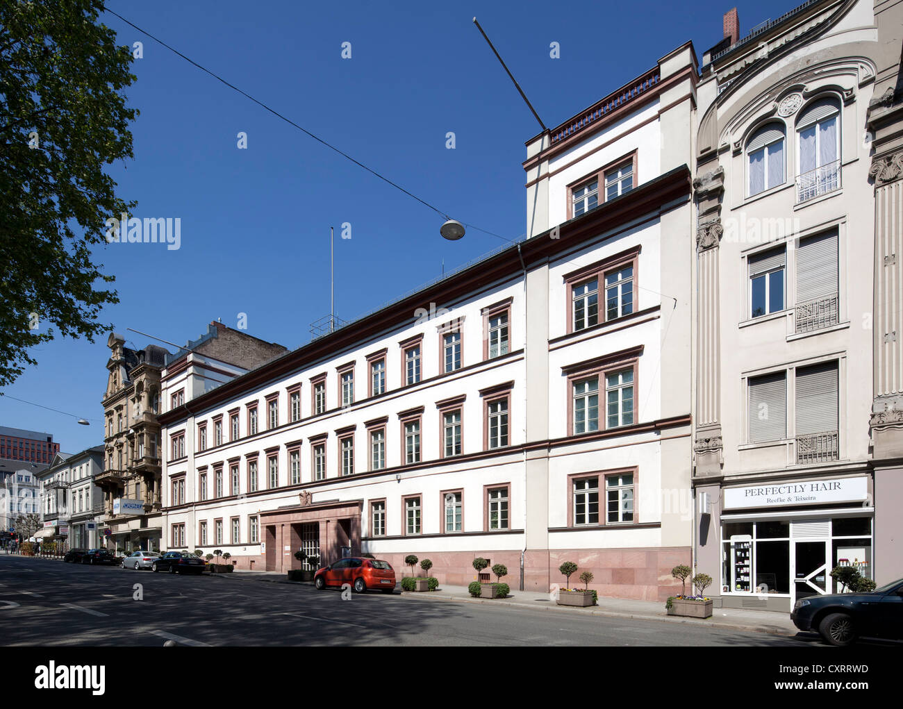 Hessian State Statistical Office, former Grevesches Palais palace, Wiesbaden, Hesse, PublicGround - Stock Image