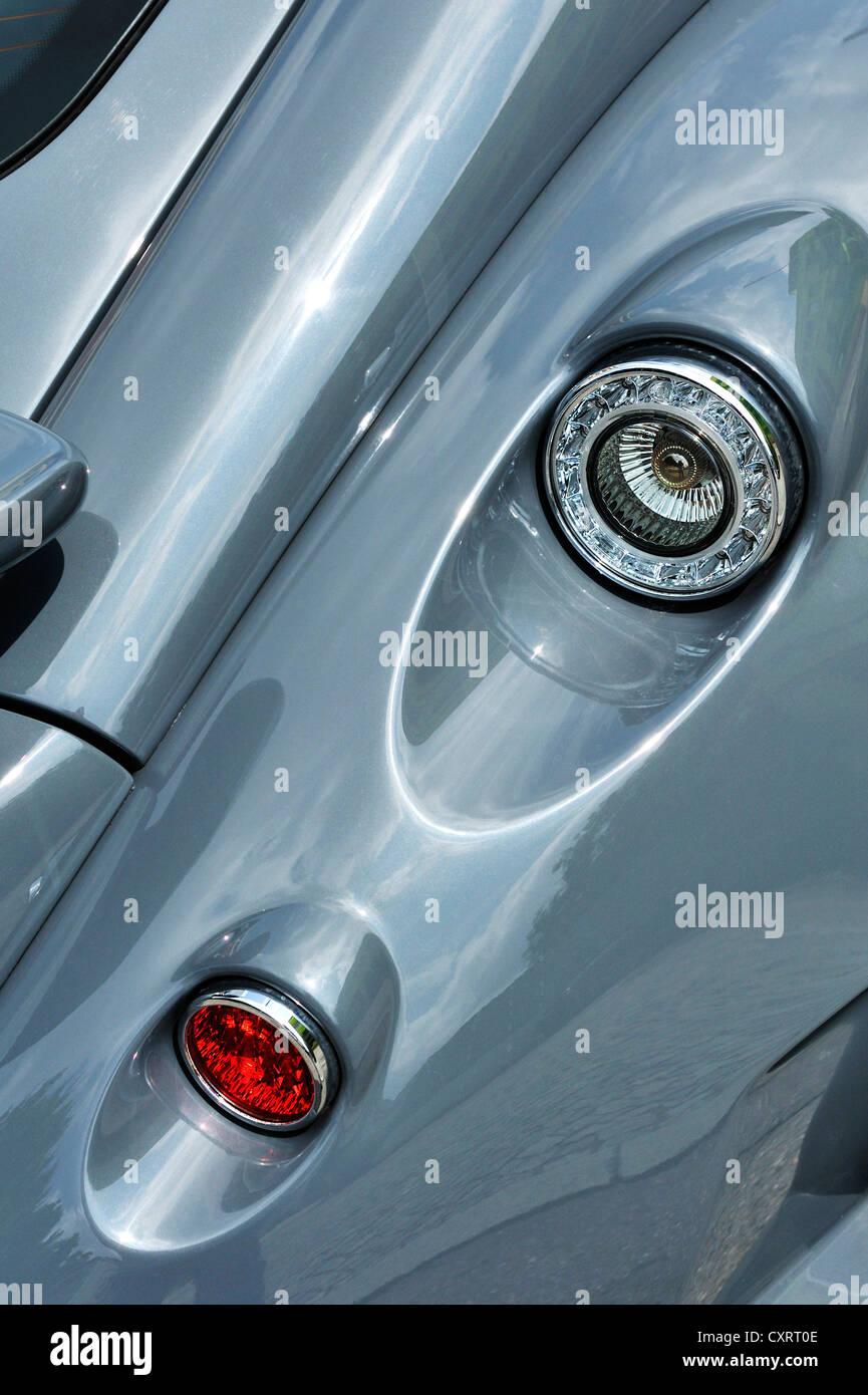 Wiesmann sports car, GT, detail view, tail lights, Munich, Bavaria, Germany, Europe - Stock Image
