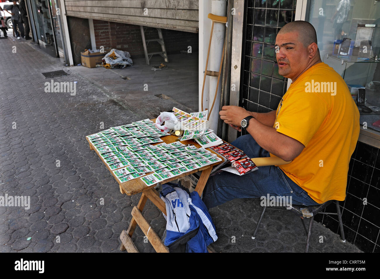 Ticket seller, San Jose, Costa Rica, Central America - Stock Image