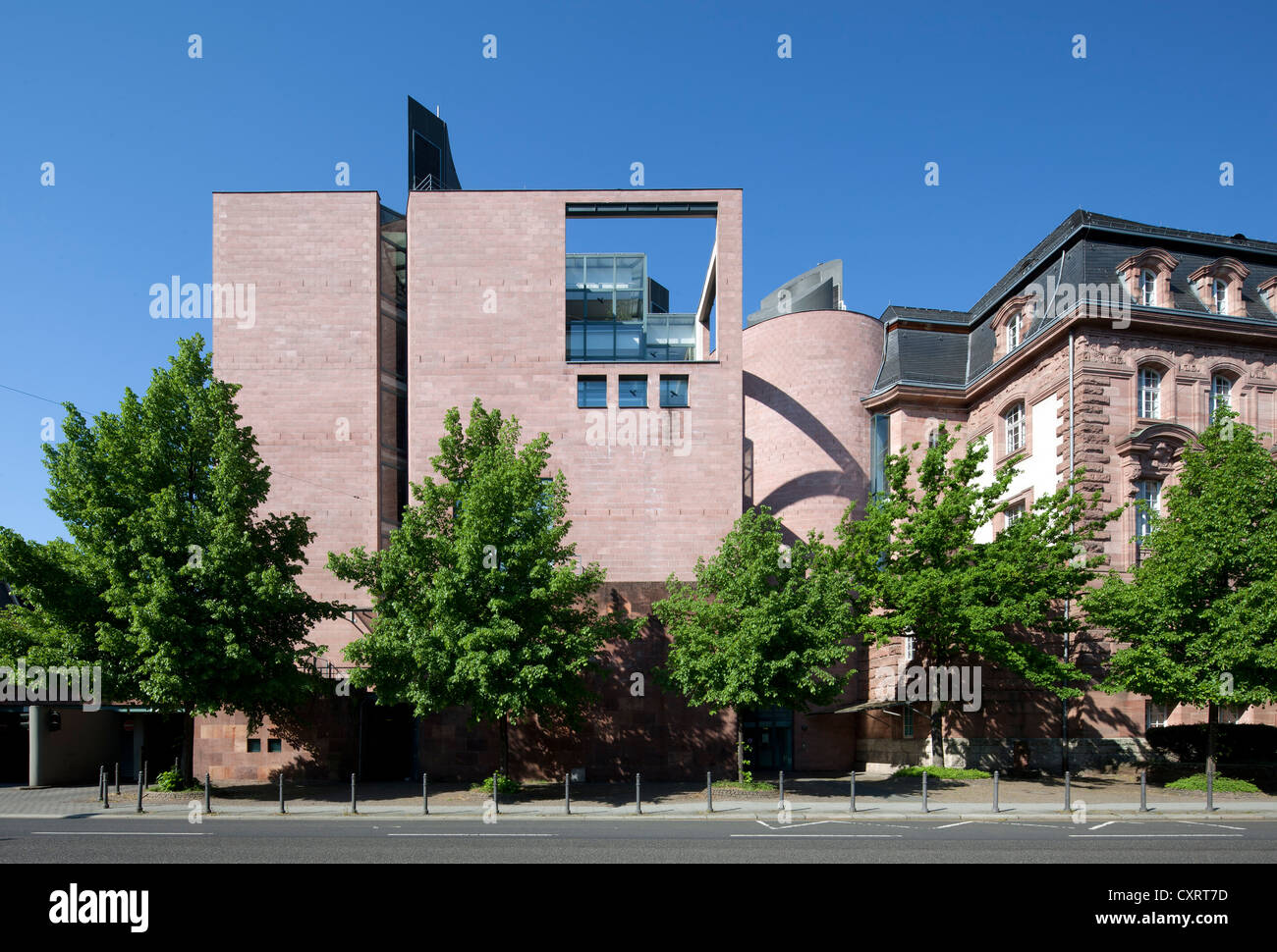 Landeshaus building with its extension, Hessian Ministry for Economics, Transport and Regional Development, HMWVL, - Stock Image