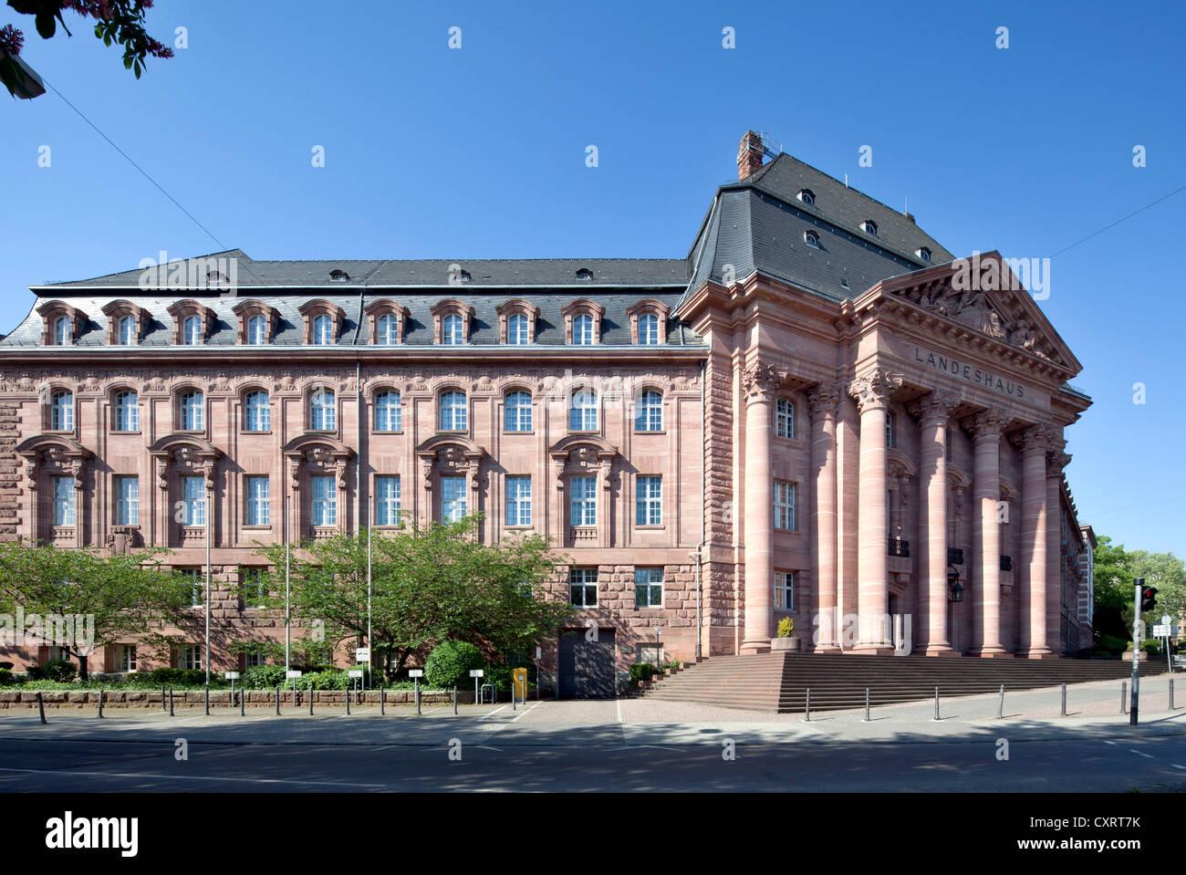Landeshaus building, Hessian Ministry for Economics, Transport and Regional Development, HMWVL, Wiesbaden, Hesse, - Stock Image