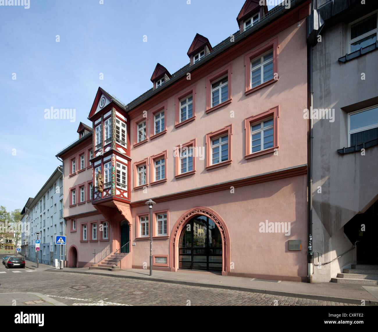Former Erbacher Hof, library of the diocese of Mainz, cathedral library, Mainz, Rhineland-Palatinate, PublicGround Stock Photo