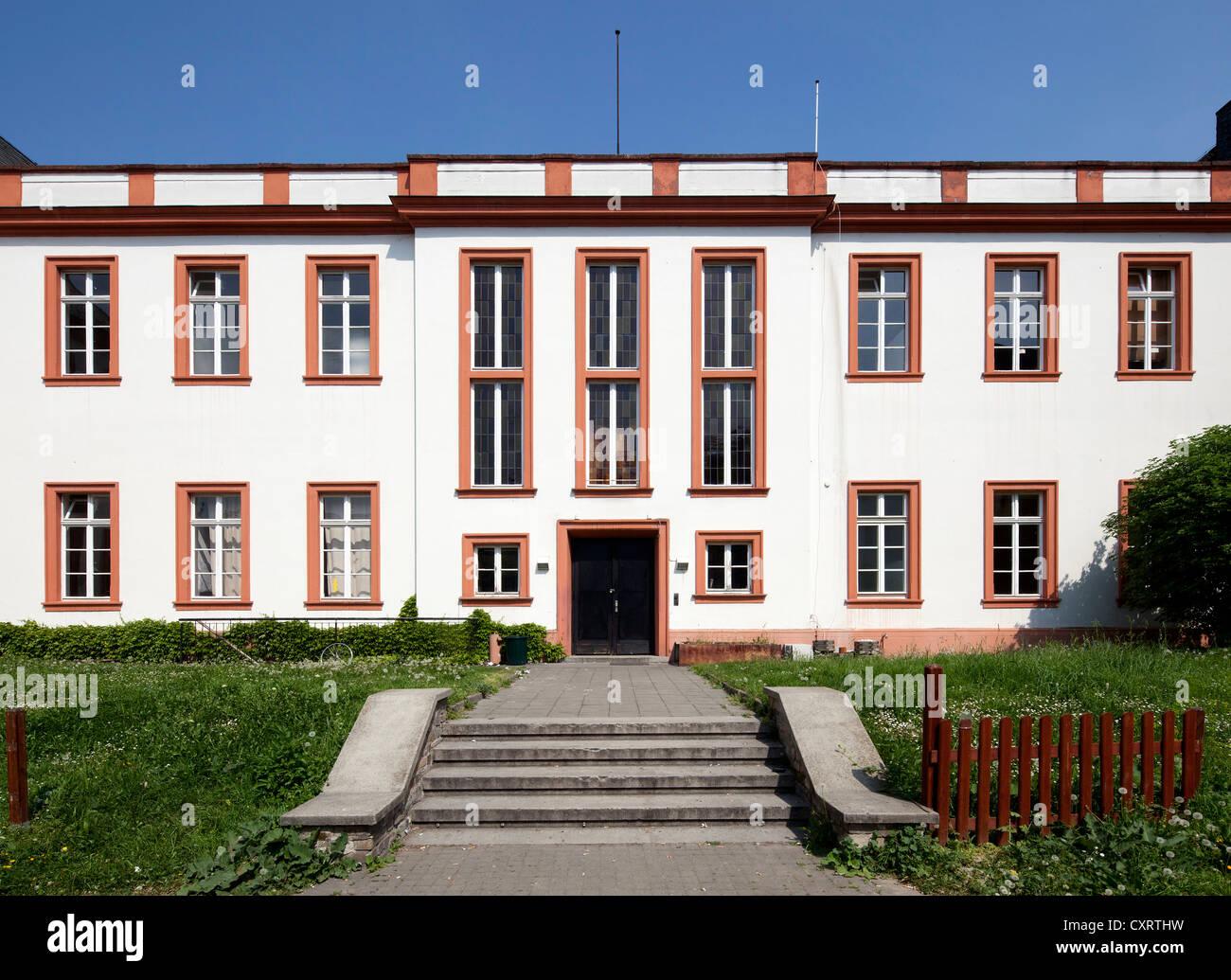 Former Schoenborner Hof, French Study Center, French Institute, Maison de France, Mainz, Rhineland-Palatinate, PublicGround - Stock Image