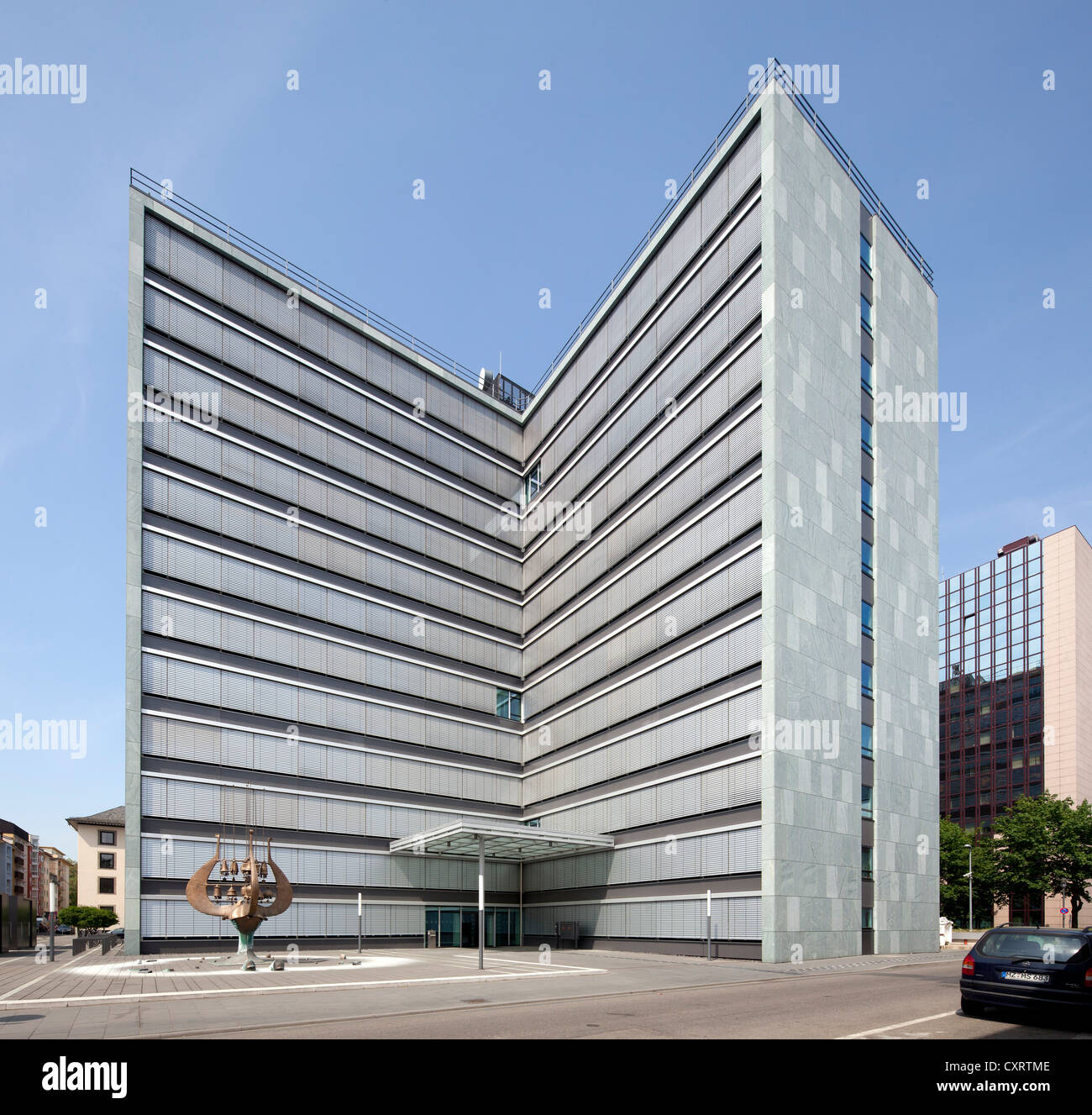 Ministerial office building of Rhineland-Palatinate, Mainz, Rhineland-Palatinate, Germany, Europe, PublicGround - Stock Image