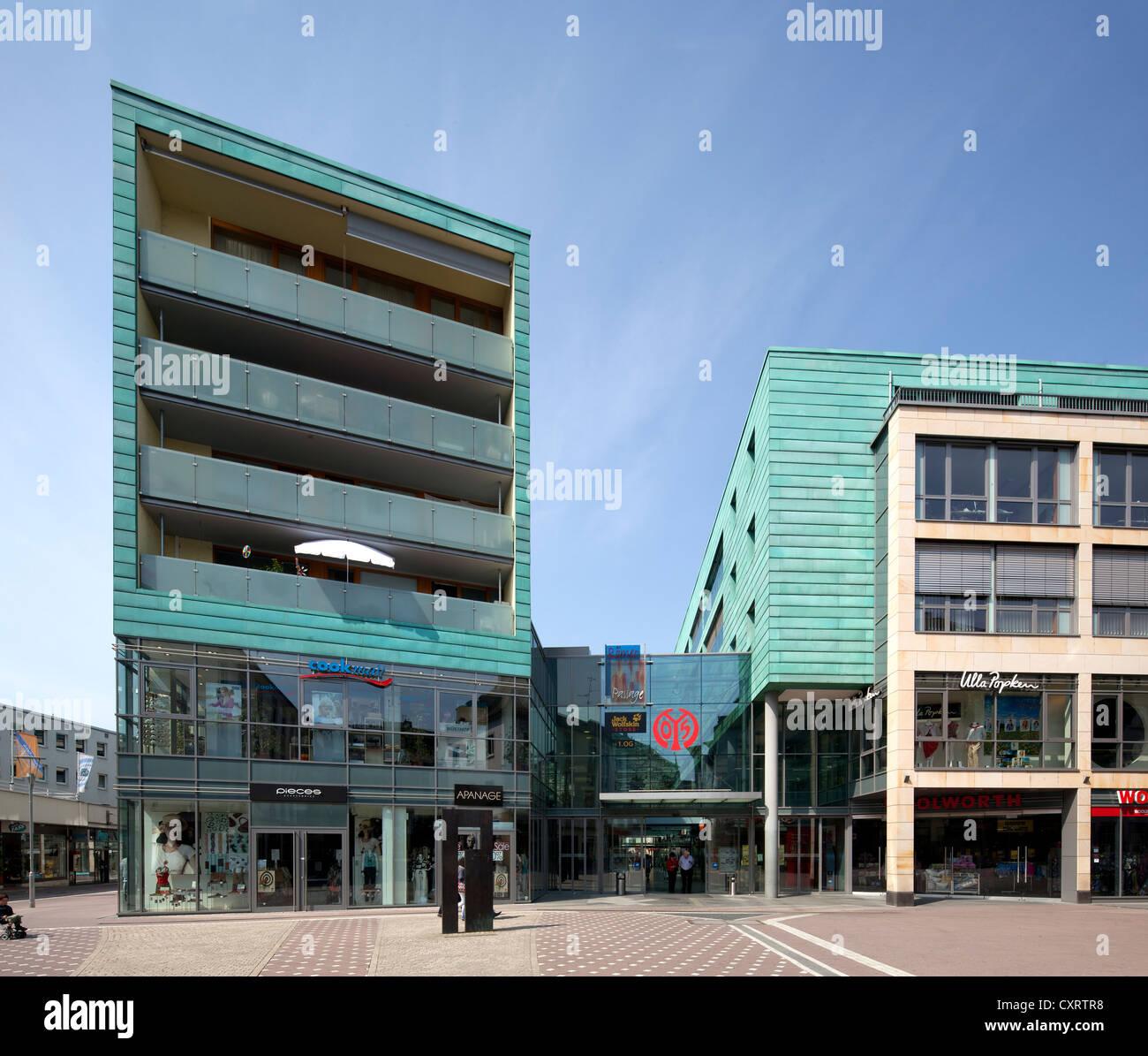 Roemerpassage shopping centre, Mainz, Rhineland-Palatinate, PublicGround - Stock Image