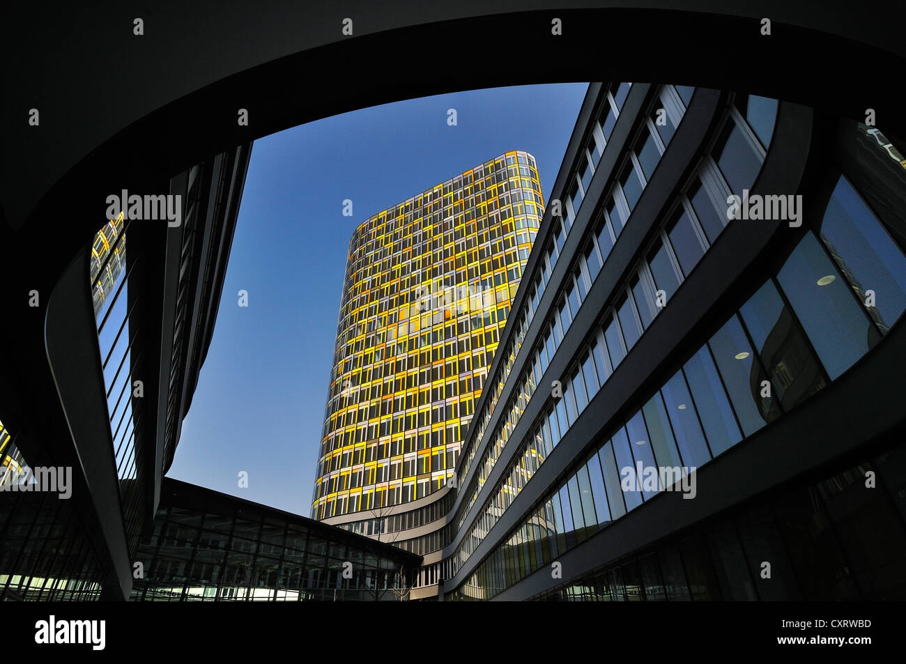 The new ADAC headquarters, German automobile club, Hansastrasse street 23-25, Munich, Bavaria, Germany, Europe - Stock Image