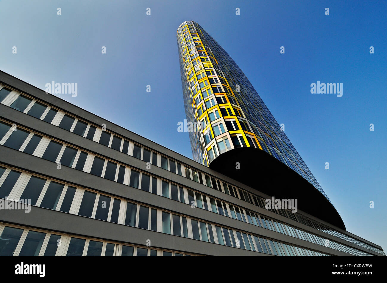 The new ADAC headquarters, German automobile club, Hansastrasse street 23-25, Munich, Bavaria, Germany, Europe - Stock Image