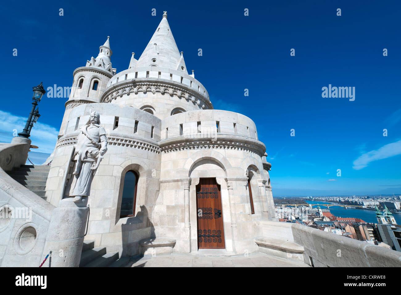 Halászbástya, Fisherman's Bastion, castle hill, Budapest, Hungary, Europe Stock Photo