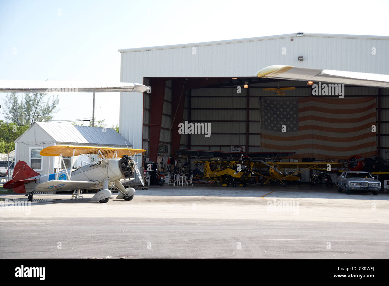 key west biplanes hangar at key west international airport florida keys usa Stock Photo