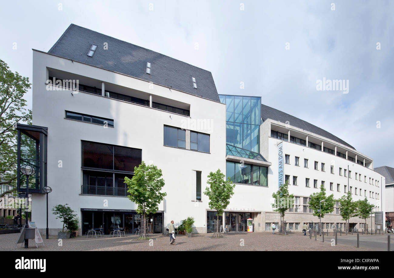 Haus am Dom, cultural and social centre of the diocese of Limburg, Frankfurt am Main, Hesse, PublicGround - Stock Image