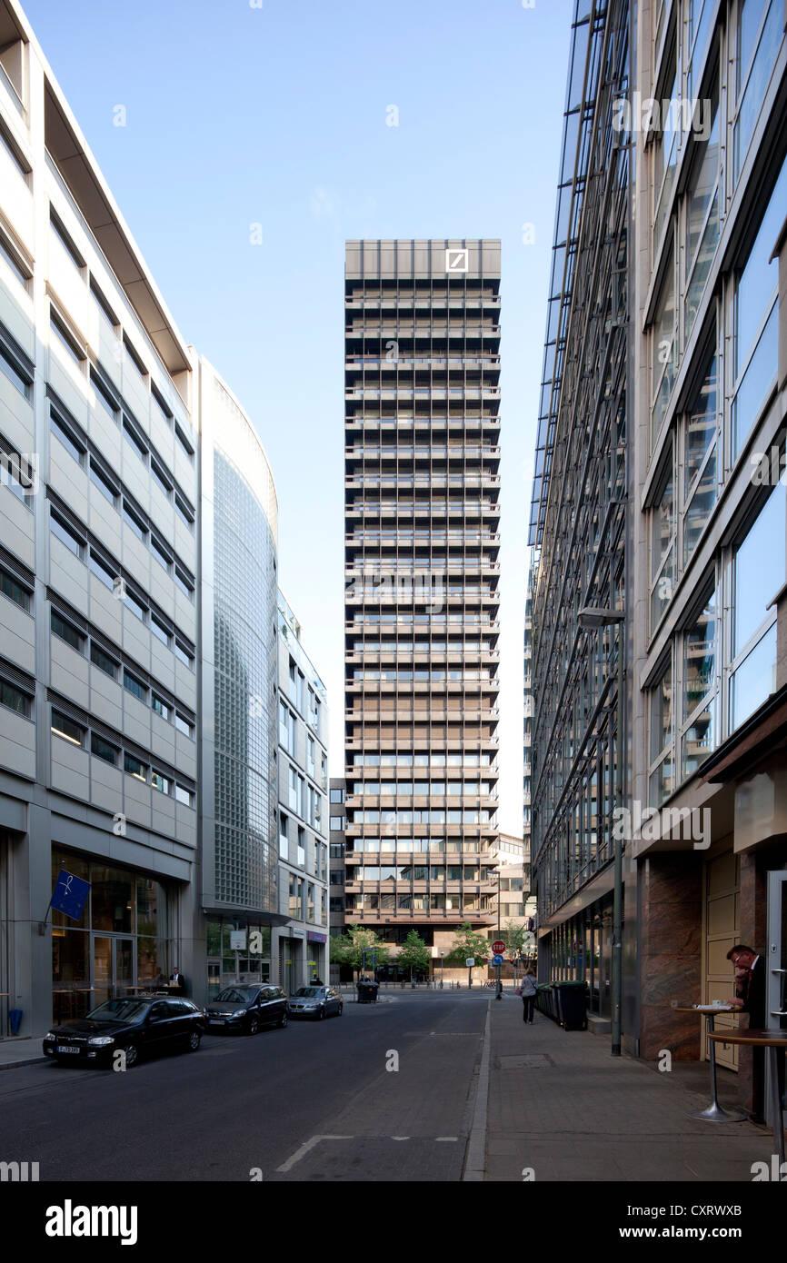 Deutsche Bank Investment Banking Center Frankfurt, Frankfurt am Main, Hesse, Germany, Europe, PublicGround - Stock Image