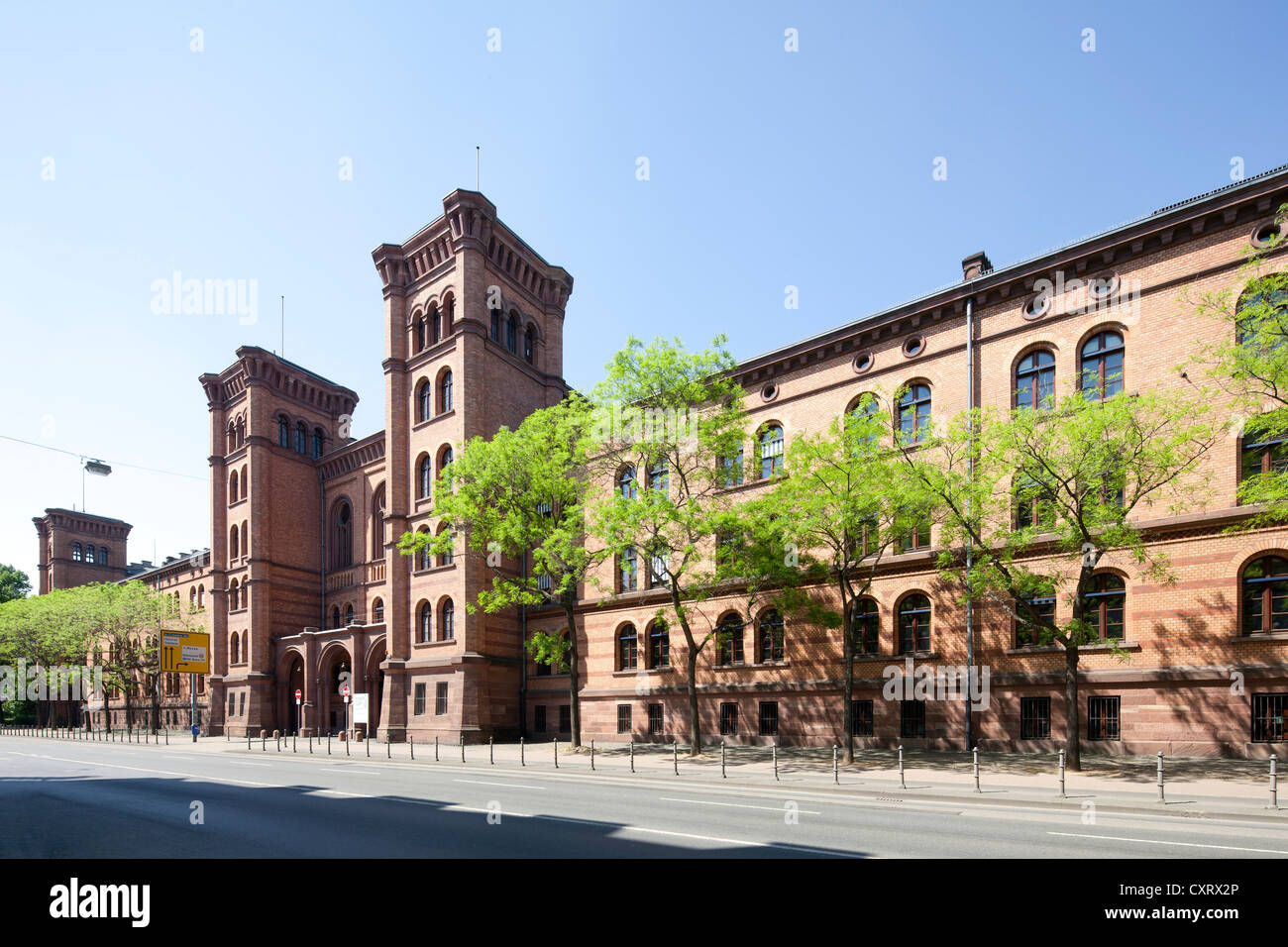 Former Gutleutkaserne barracks, government office center, tax office, police station, administrative technical college, - Stock Image