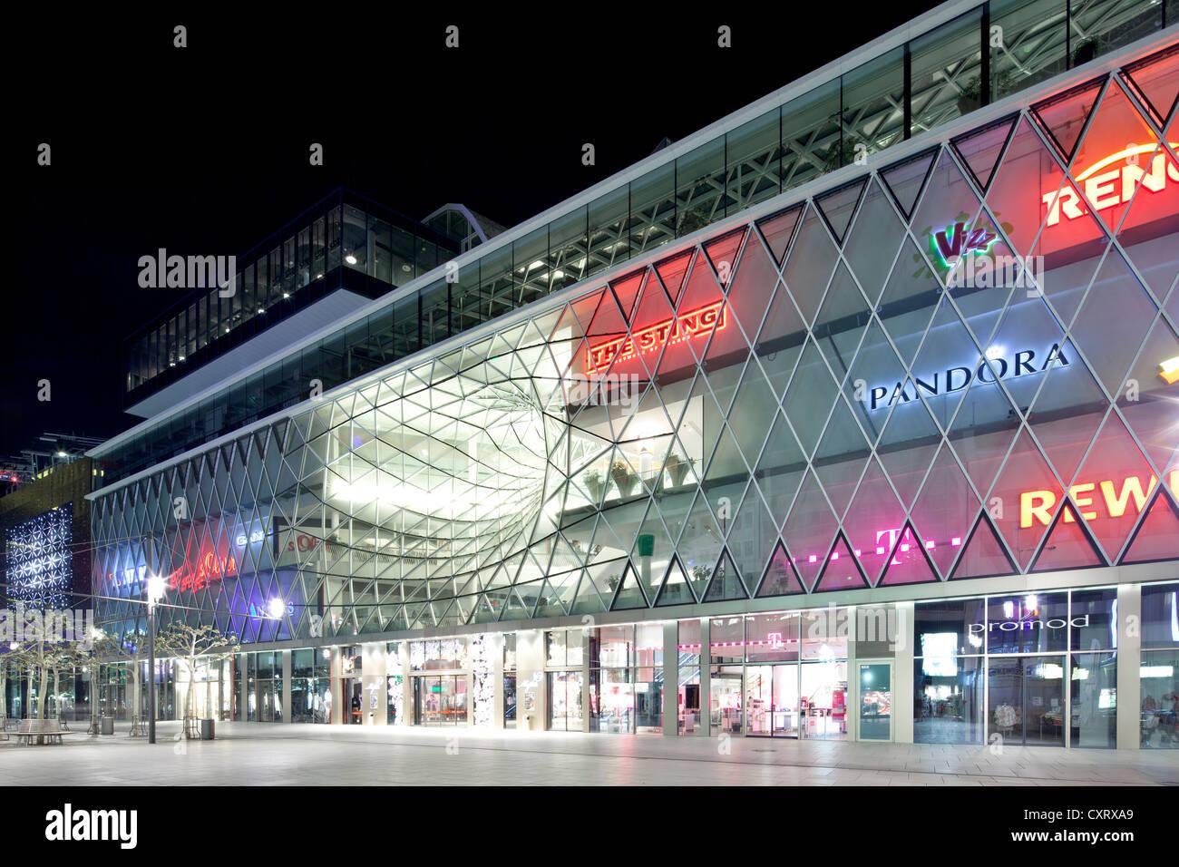MyZeil shopping center, Palais Quartier district, Frankfurt am Main, Hesse, PublicGround - Stock Image