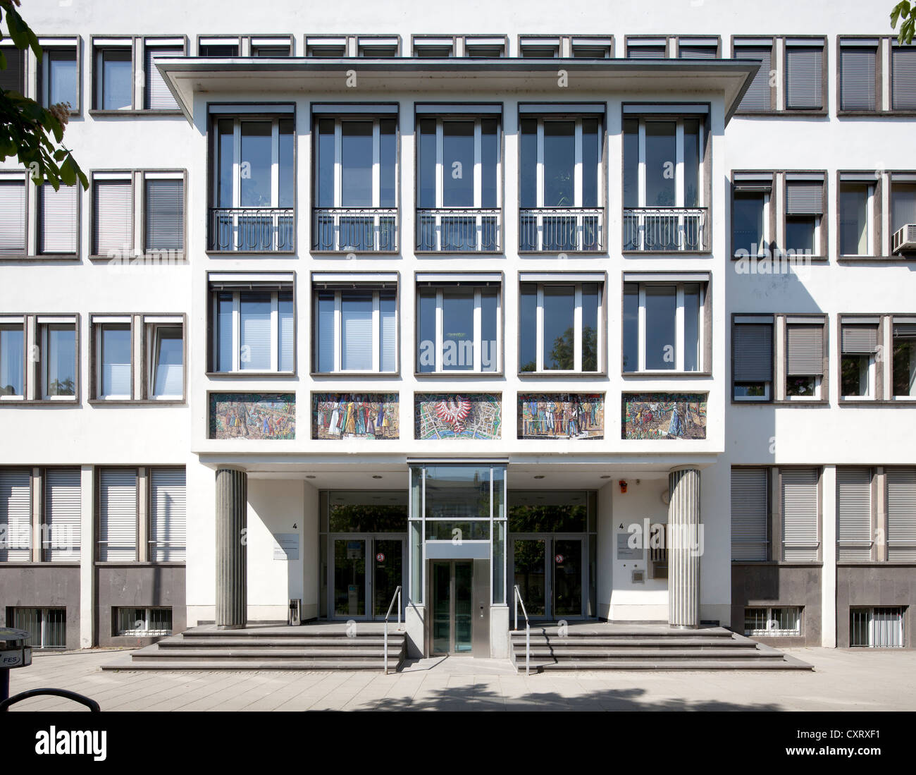 City Hall, extension of the Roemer building from the 1950s, Frankfurt am Main, Hesse, PublicGround - Stock Image