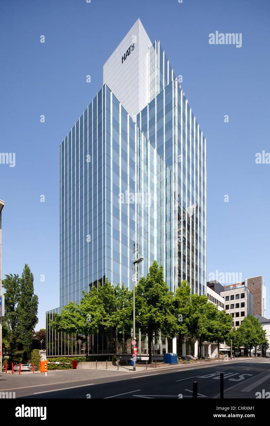 Hochhaus am Turm tower, HAT 64, Frankfurt am Main, Hesse, Germany, Europe, PublicGround - Stock Image