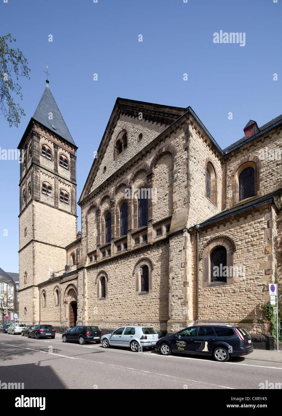 Paulus-Kirche church, Trier, Rhineland-Palatinate, Germany, Europe, PublicGround - Stock Image
