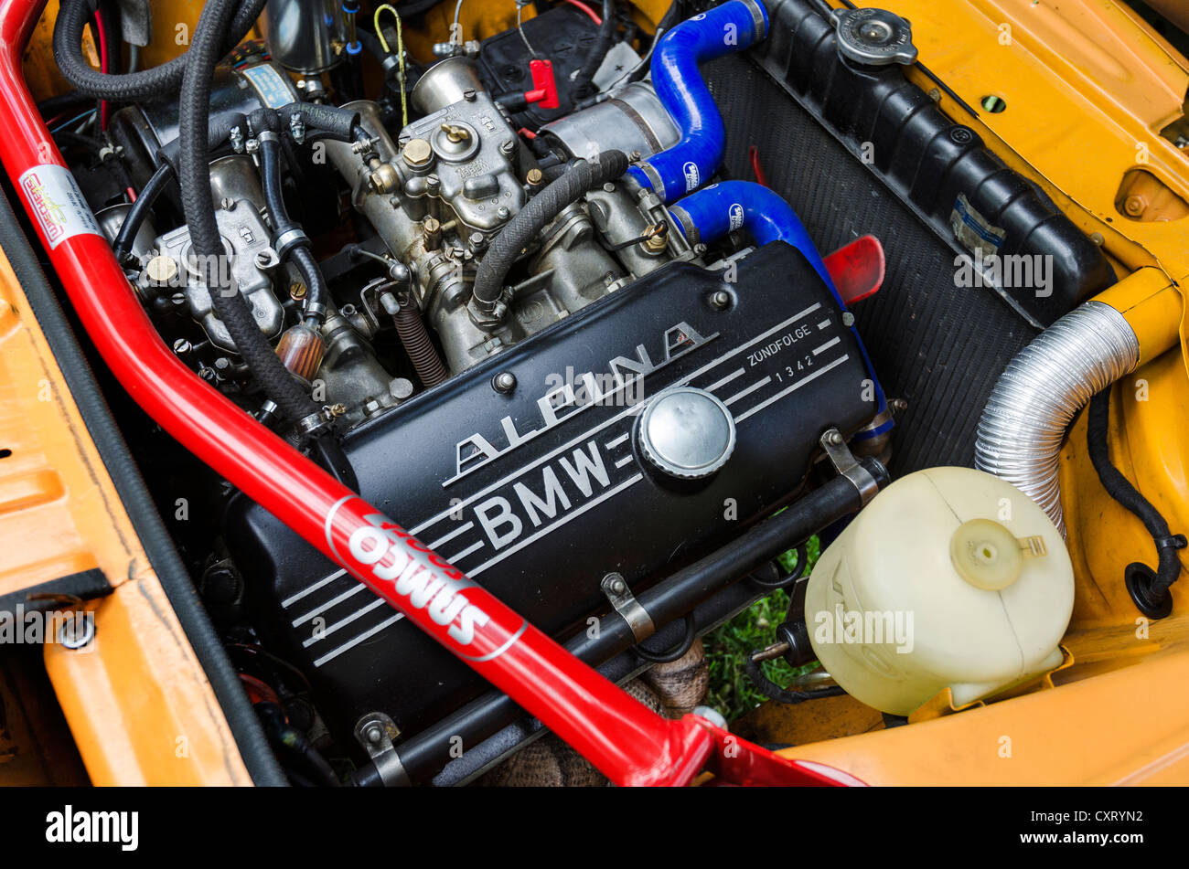 Bmw 2002 Tii Race Car >> View of the engine compartment of a BMW 2002 Ti Alpina, built in Stock Photo: 50928446 - Alamy